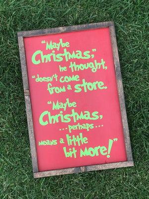 Holiday Wood Signs