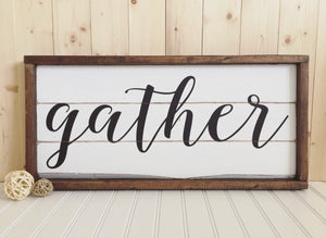 Nov 3 Pallet Party: Gather Farmhouse Sign
