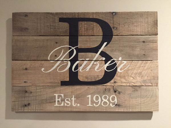 Jan 5 Pallet Party: Custom Monogram Farmhouse Sign