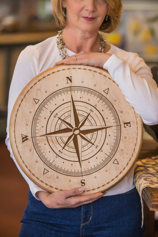 A Classic Nautical Touch: Compass Rose Bread Boards
