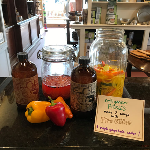 Fearless Refrigerator Pickles with Fire Cider