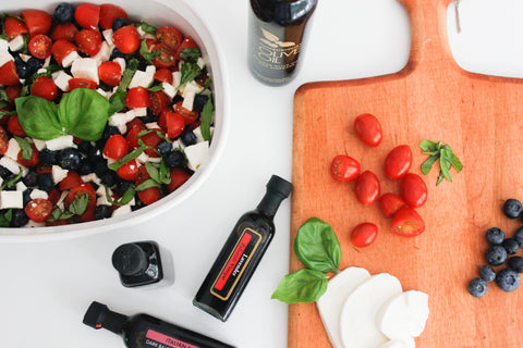 Blueberry Tomato Caprese Ingredients