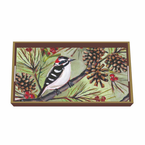 Fall & Winter Seasonal Wooden Lacquer Vanity Trays