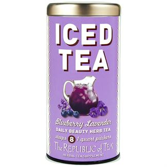 Blueberry Lavender Herbal Iced Tea