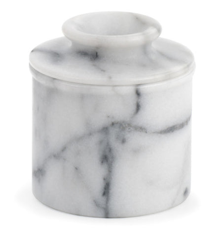 White Marble Butter Pot
