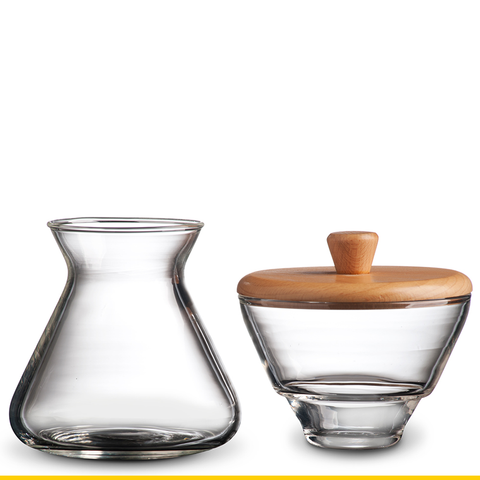 Handblown Glass Cream & Sugar Set