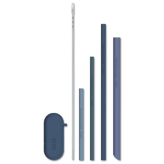 4 Pack Silicone Straw Sets
