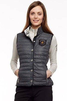 Arista Packable Down Filled Vest - Charcoal