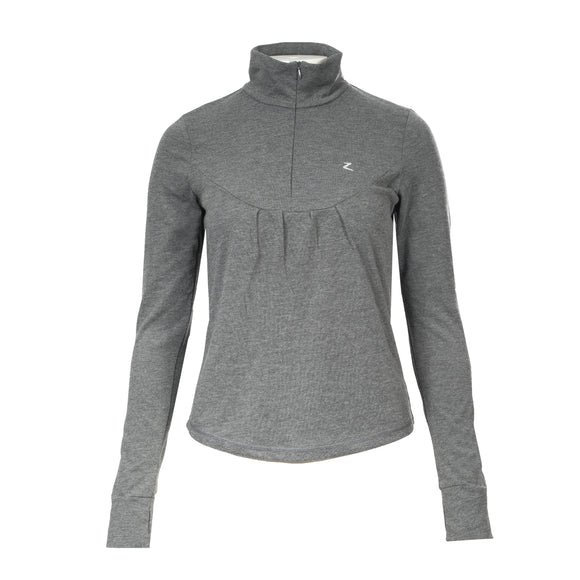 Horze Ella Long Sleeve Tech Shirt in Heather Grey