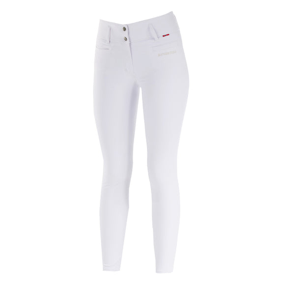 B Vertigo Tiffany Silicone Full Seat Breeches in White