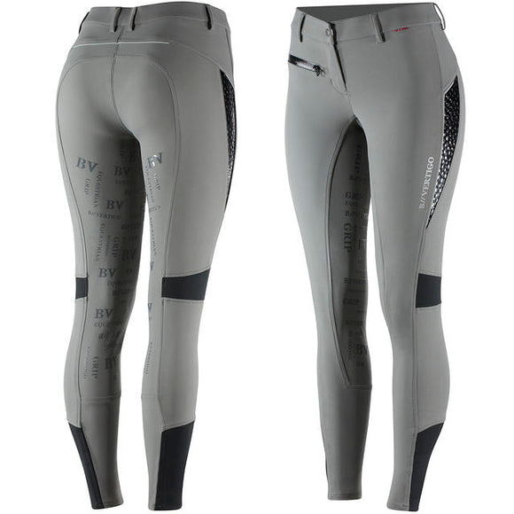 B Vertigo Skylar Full Seat Breeches in Steel Grey