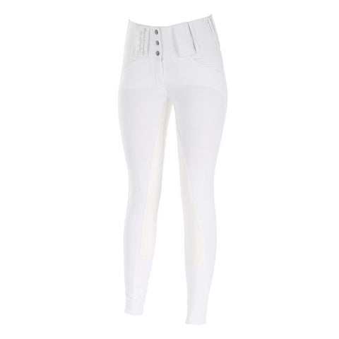 Horze Desiree Full Seat Breeches in White