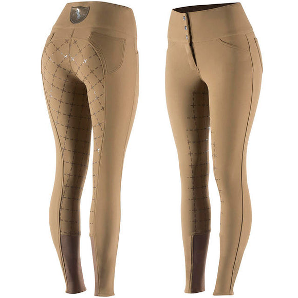 Horze Desiree Full Seat Breeches in Spruce Brown