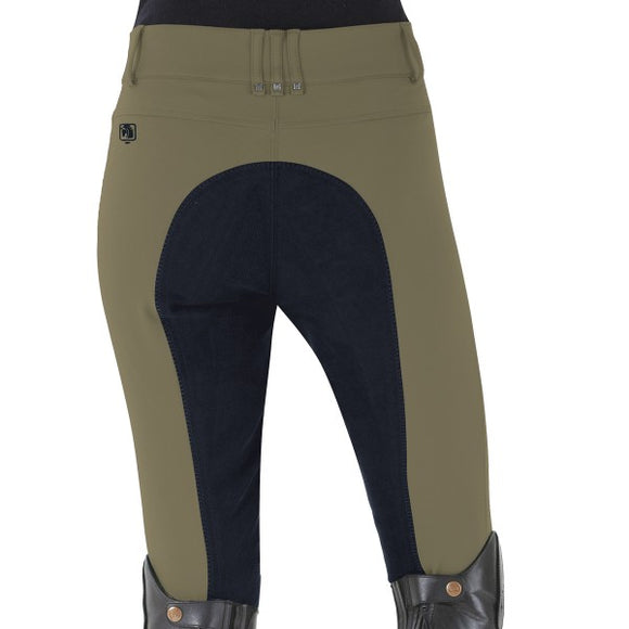 ROMFH Sarafina Full Seat Breeches in Deep Sage/Navy