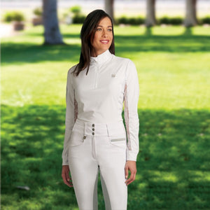 ROMFH Isabella Full Seat Breech in White/Grey