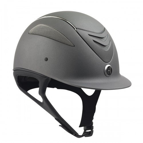One K Defender Chrome Stripe Helmet in Grey Matte