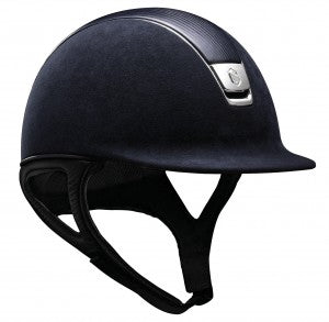 Samshield Premium Helmet in Navy Alcantara + Navy Leather Middle (L 7 1/4- 7 3/4)