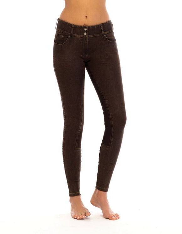 Goode Rider Equestrian Jean - Faux Leather (brown)