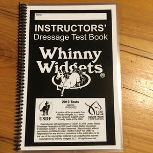 Whinny Widgets Instructors Dressage Test Book (2019)