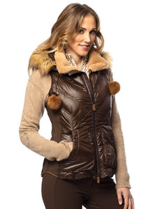 Goode Rider Luxury Vest - Goose Down - Brownie