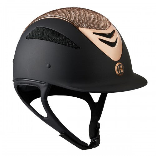 One K Defender Glamour Rose Gold Helmet - Black Matte