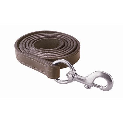 Perri's Leather Lead - Brown/Chrome
