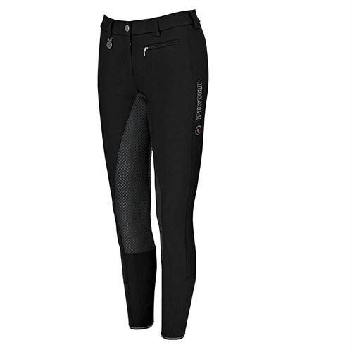 Pikeur Lucinda Full Seat Grip Breeches in Black/Anthracite