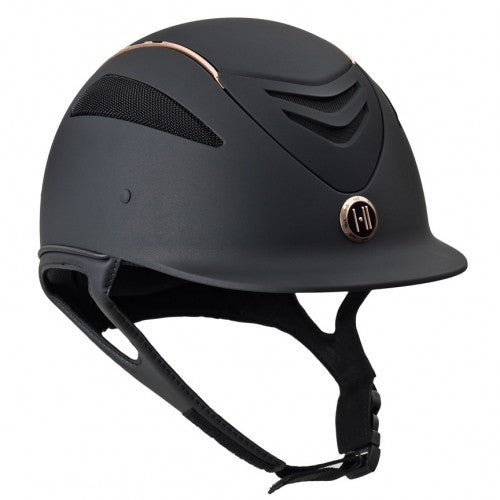 One K Defender Rose Gold Stripe Helmet - Black Matte