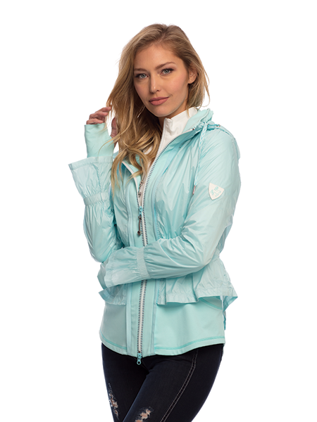 Goode Rider Warm Up Jacket in Turquoise