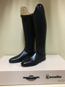 Cavallo Insignis Patent Trim Dressage Boots US 10 (calf 36cm height 46cm)