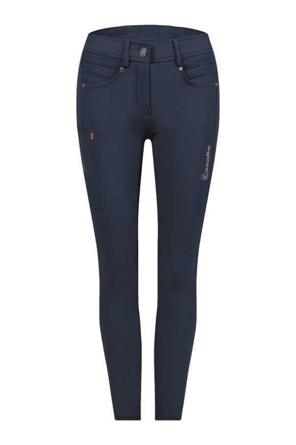 Cavallo Carole Grip S Full Seat Breeches in Dark Blue