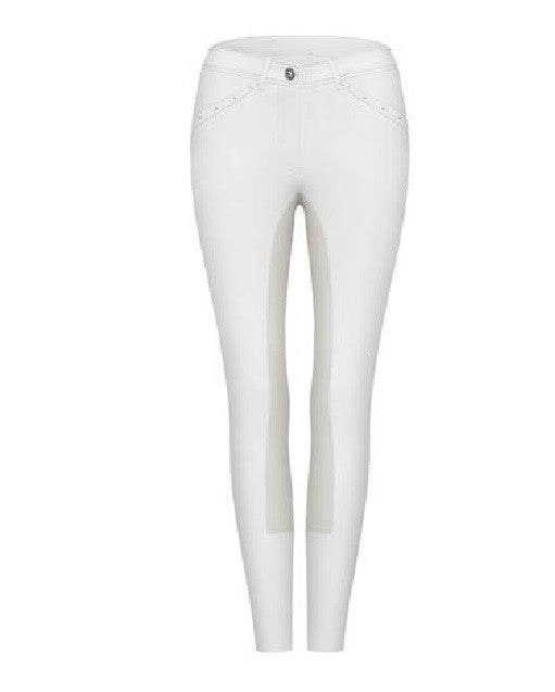 Cavallo Curly Full Seat Breeches in White