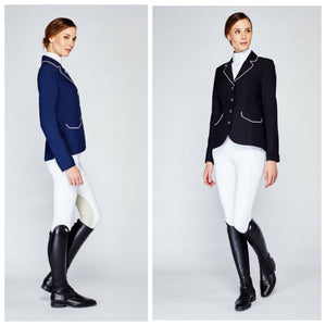 Asmar London Show Coat in Navy and Black