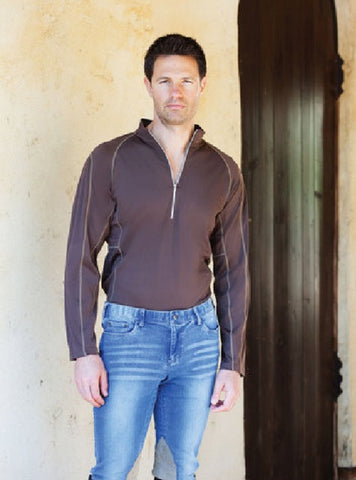 Goode Rider Men's Tech Shirt in Coffee