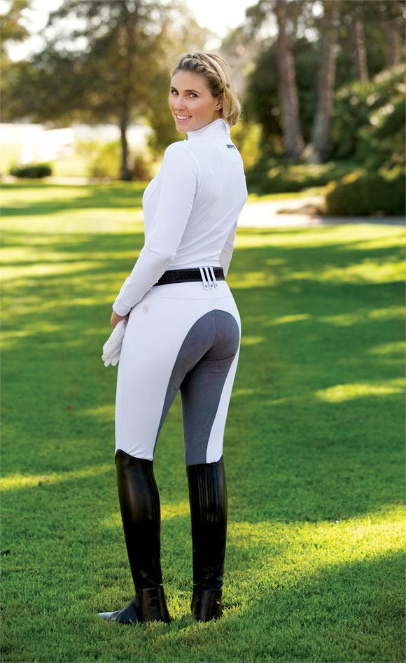 ROMFH Sarafina Full Seat Breeches - White/Grey