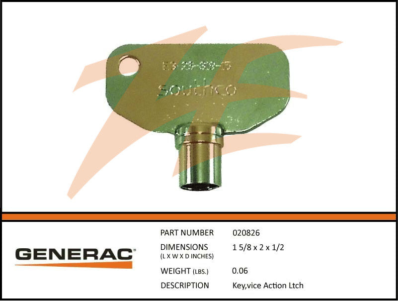 Generac 020826 Key Vice Action Latch