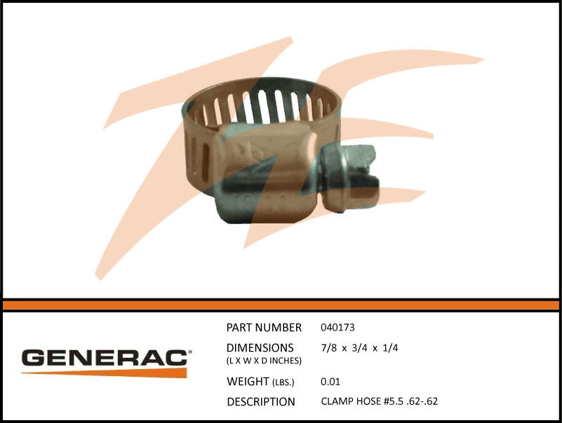 Generac 040173 Hose Clamp #5.5