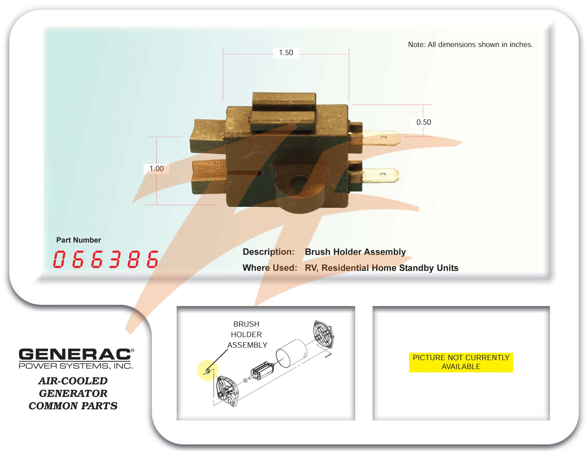 Generac 30kw 3 Phase Generator Wiring Diagram Product Schematics 066386 0663860srv Brush Assembly Ziller Electric Rh Zillerelectric Com Standby Layout