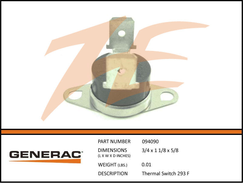 Generac 094090 High Temperature Switch 293*F