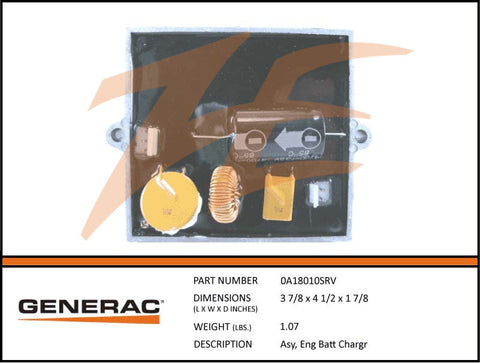Generac 0A18010SRV Battery Charger