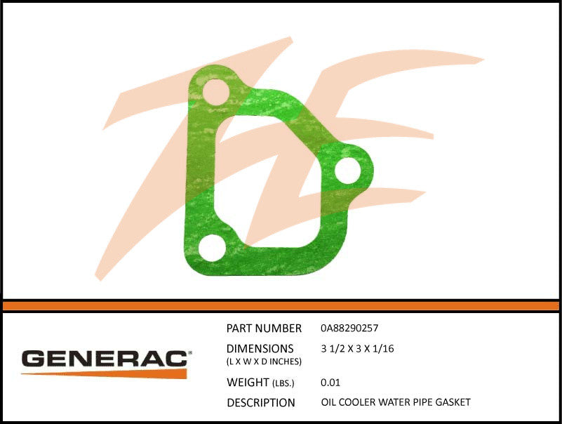 0A88290257 Oil Cooler Water Pipe Gasket
