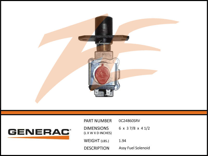 0C24860SRV Assembly Fuel Solenoid