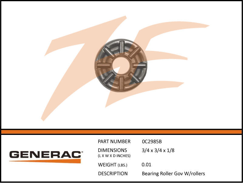 0C2985B Governor Roller Bearing