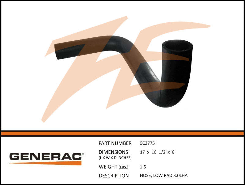 0C3775 Lower Radiator Hose 3.0L