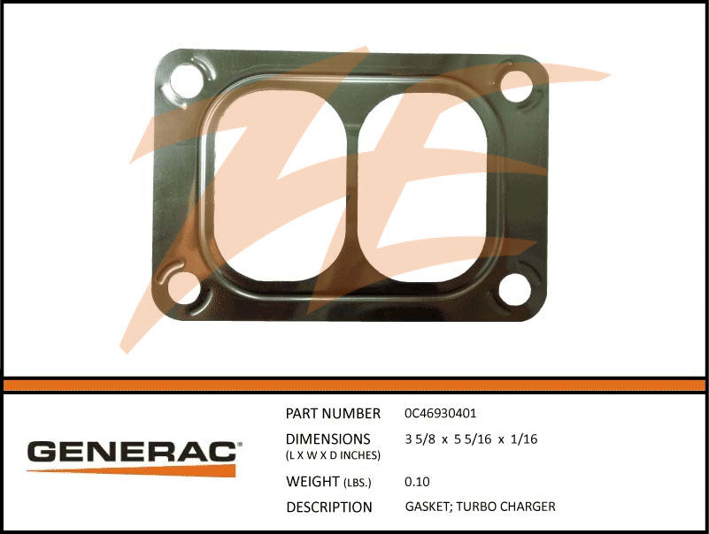 Generac 0C46930401 Turbo Charger Gasket