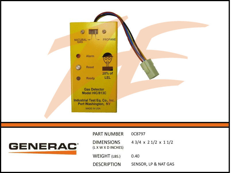 0C8797 LP & Natural Gas Sensor
