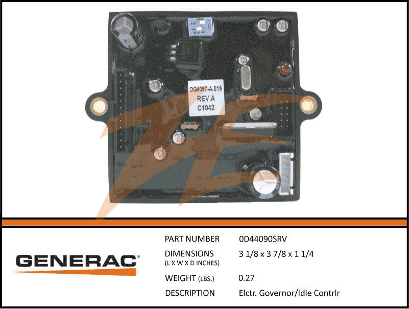 Generac 0D4409/0D44090SRV Portable Controller PCB with Idle Control