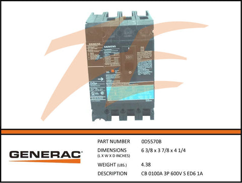 generac parts accessories page 168 ziller electric generac 0d5570b 100a 600v circuit breaker 3 phase