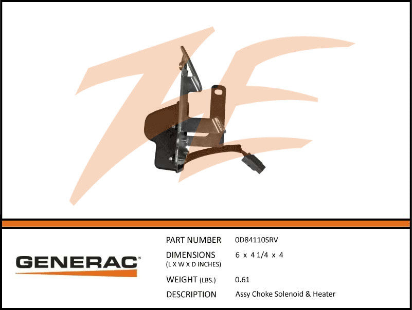 Generac 0D84110SRV Choke Solenoid and Heater Assembly