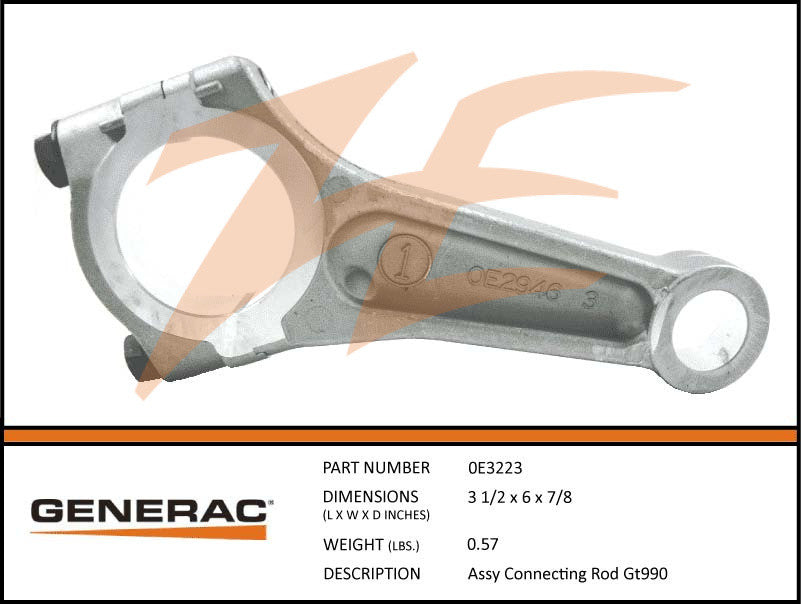Generac 0E3223 Connecting Rod Assembly GT990